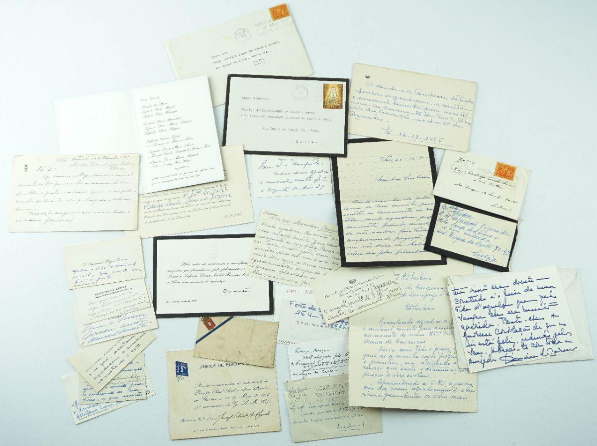 Colecção de cartões da família Real