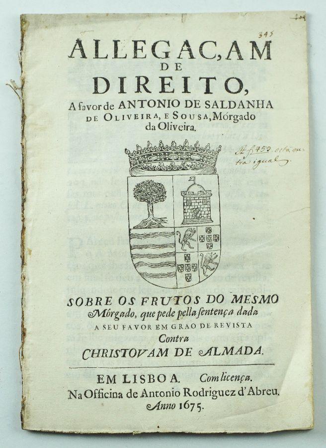 Raríssima publicação de Geneologia séc. XVII