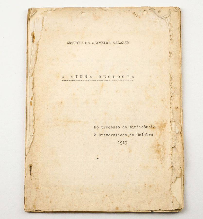 Raríssimo Folheto Policopiado António Oliveira Salazar - 1919