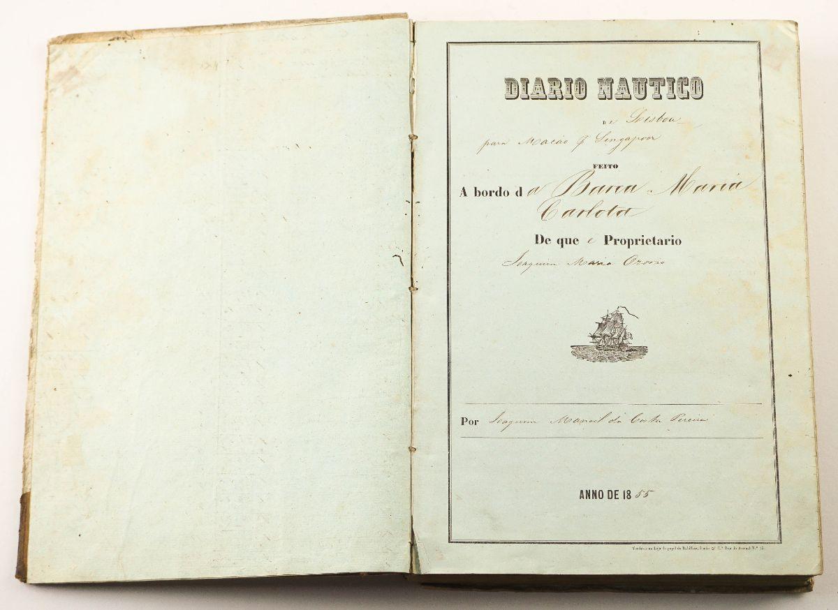 Diário Náutico da Barca Maria Carlota (rota de Macau e Singapura) 1855