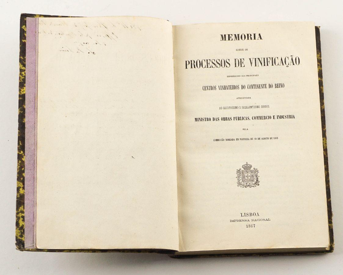 Memória sobre os Processos de Vinificação – 1867