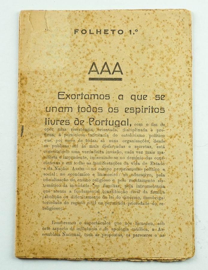 AAA - Folheto 1.º