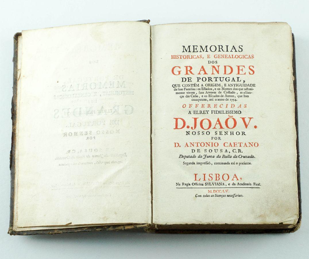 Memórias Históricas e Gemeologias dos Grandes de Portugal – 1755
