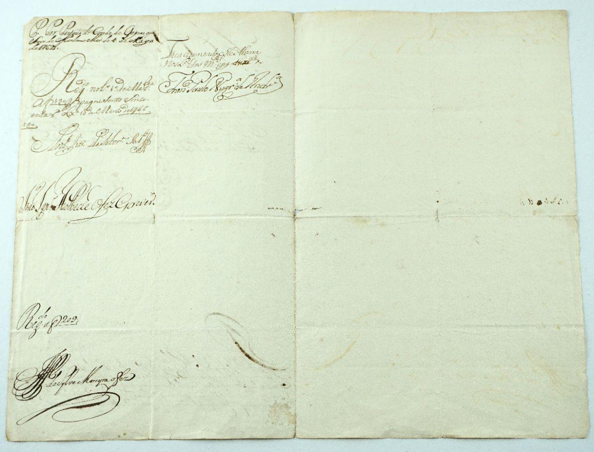 Rei D. João VI e Marquês de Pombal – Manuscrito
