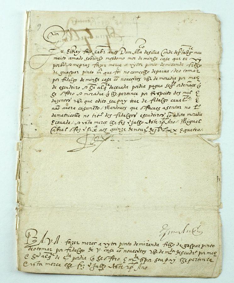 Rarissimo manuscrito de El Rey D. Sebastião – 1574