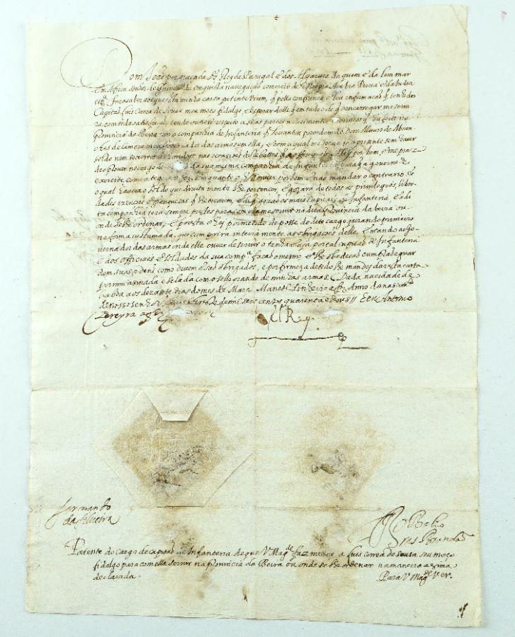 Manuscrito de Carta Patente D. João IV – 1642