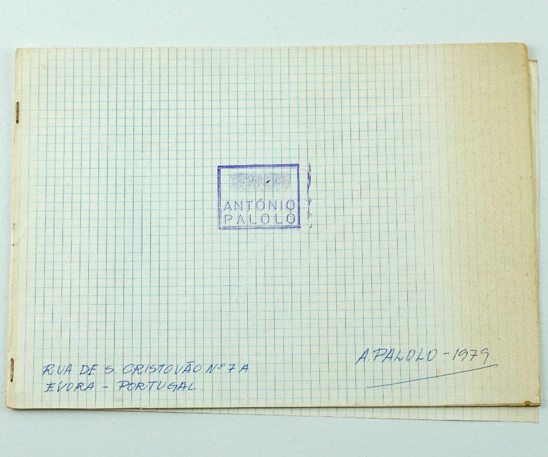 """António Palolo – publicação de artista """"Crater Calice Glass""""– 1979"""