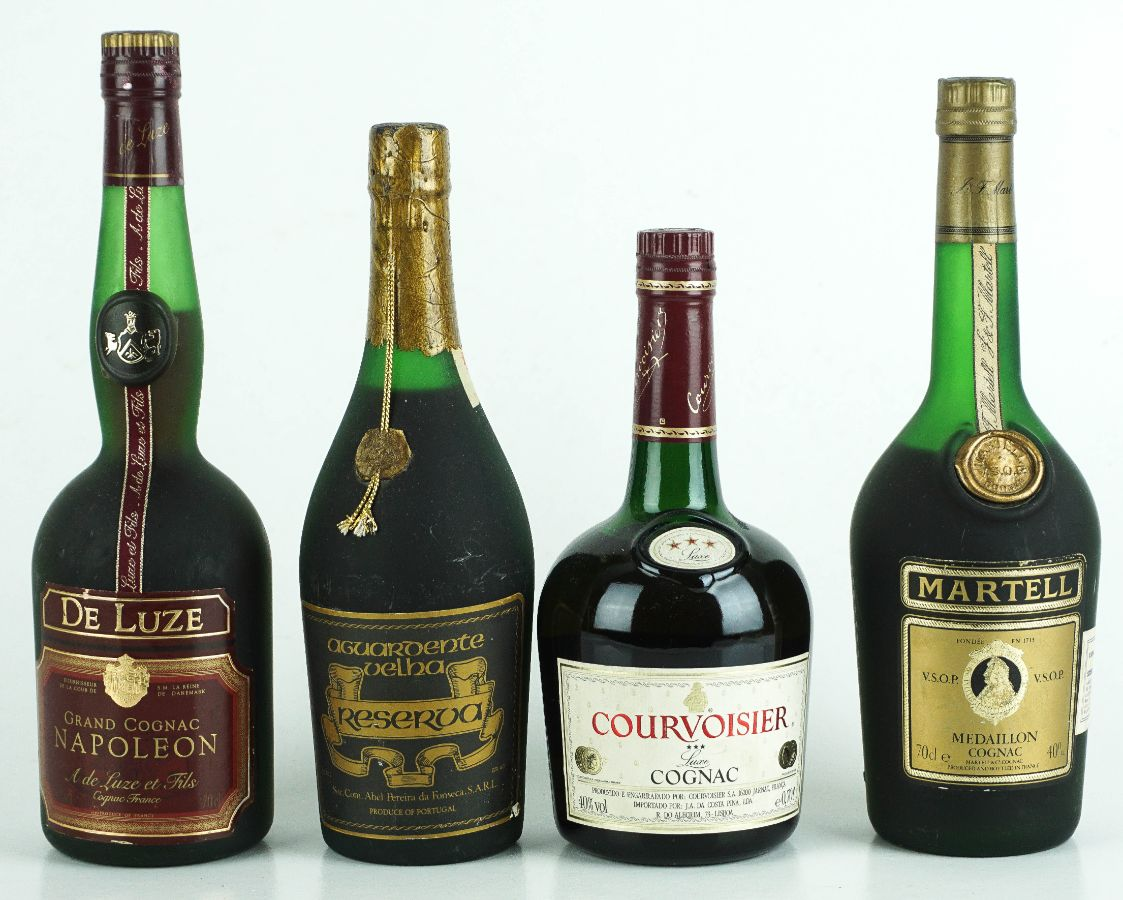 4 Garrafas de Cognac / Aguardente