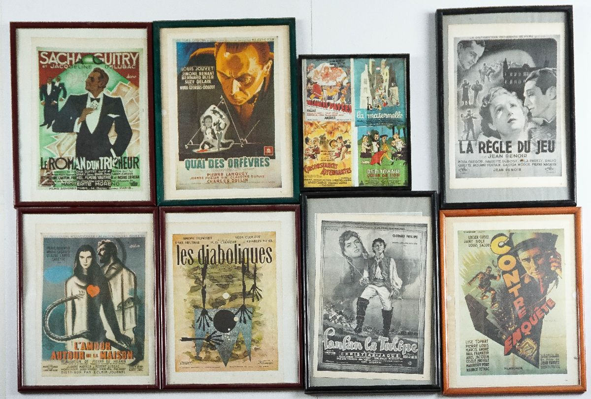 22 Pequenos cartazes de cinema