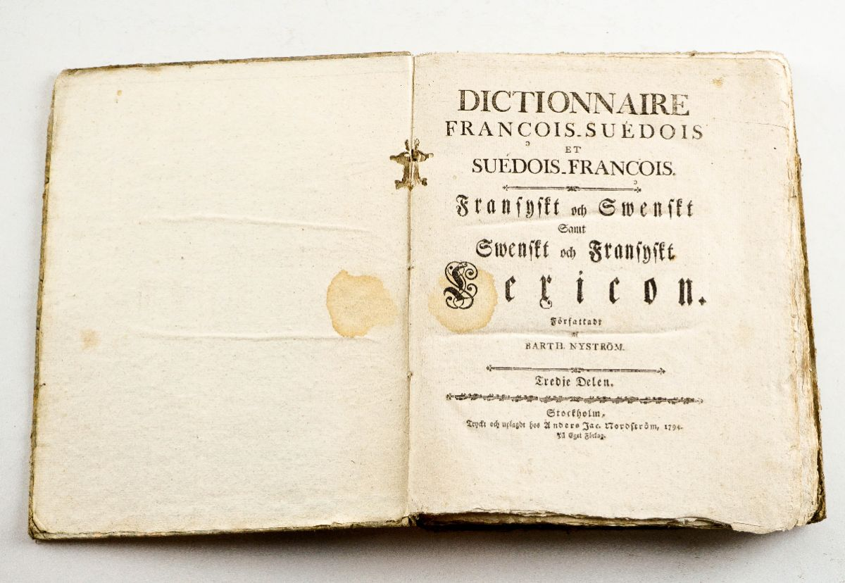 Dictionnaire François Suédois et Suédois François – 1794