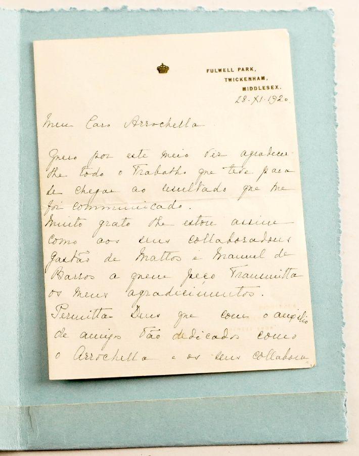 Carta Rei D. Manuel II