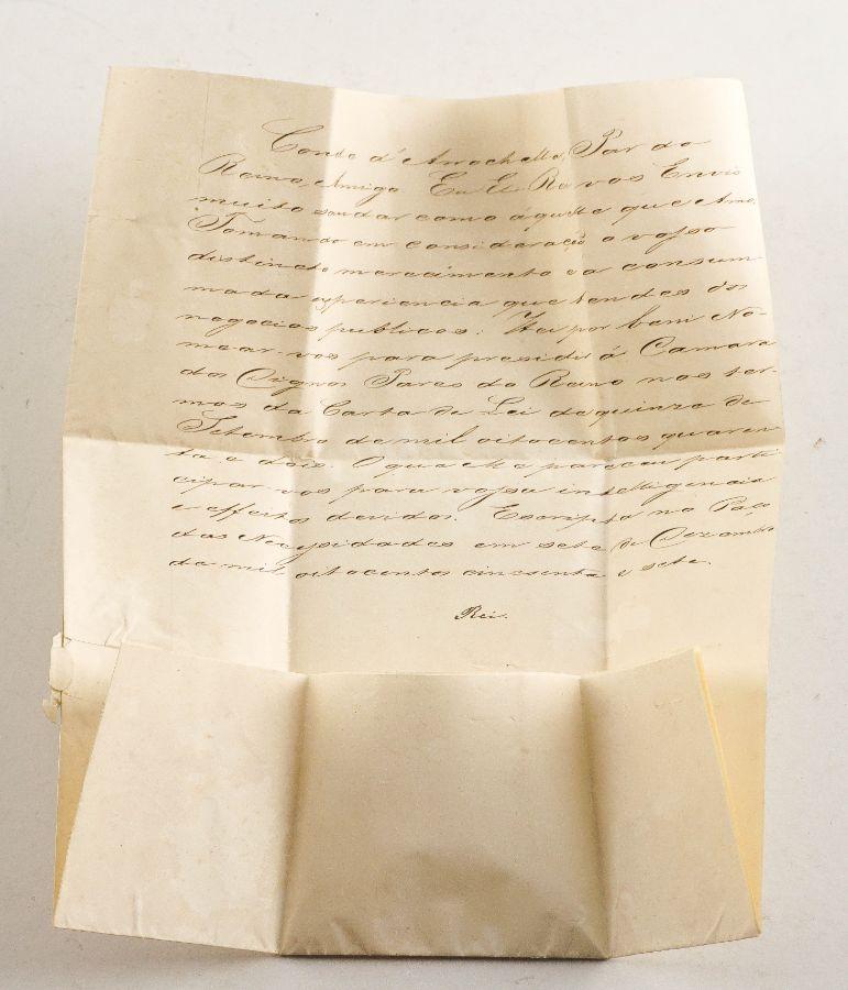Carta Rei D. Pedro V – Manuscrito