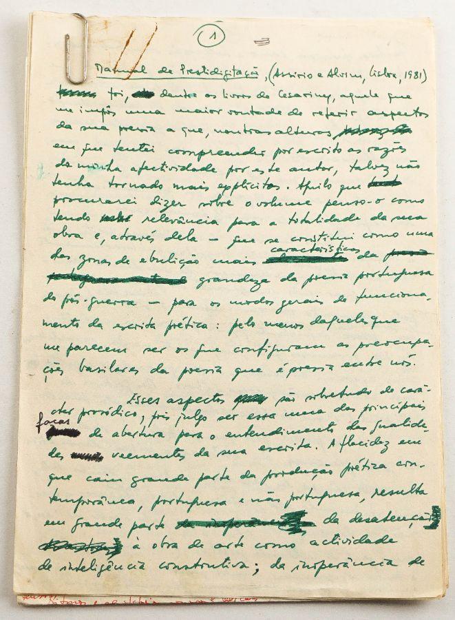 Manuscritos Joaquim Manuel Magalhães