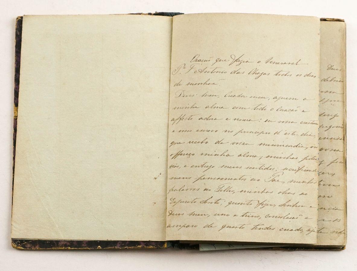 Caderno Manuscrito de Religiosa Conventual sec XIX