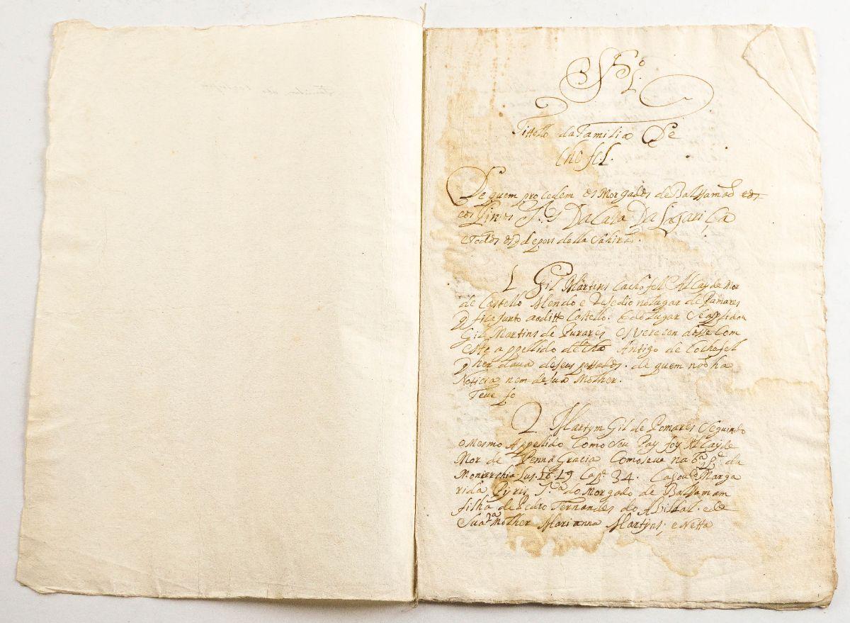 Manuscrito de Genealogia, sec XVI ou XVII – Familia Cochefel