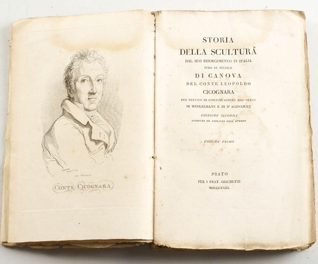 Storia Della Scultura Del Conte Cicognara 1ª edição