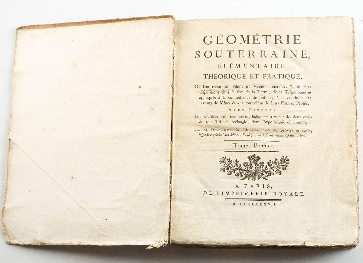 Geometrie Souterraine Elementaire – 1787