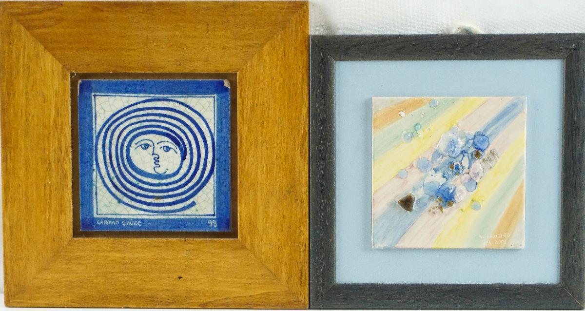 2 Azulejos modernistas emolduras