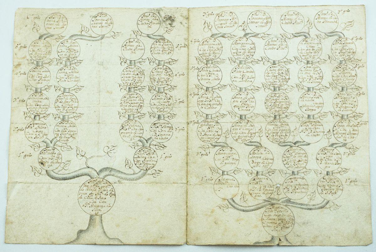 Família Pimenteis – desenho genealógico sec XVIII