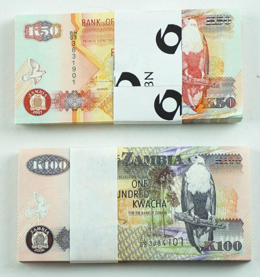 """Numismática Internacional (Notas de Banco) """"Zâmbia"""""""