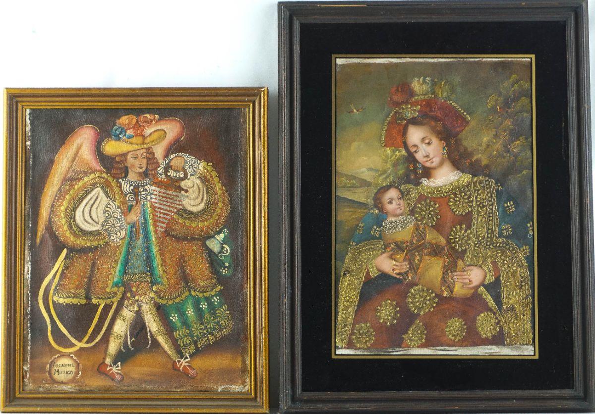 Nossa Senhora com O Menino / Arcanjo Músico