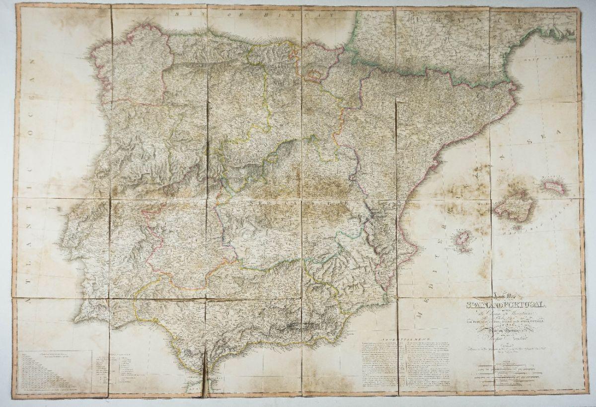 Mapa de Portugal e Espanha – 1810