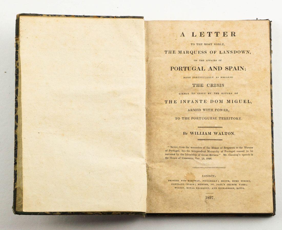 Livro inglês sobre a situação política portuguesa (1827)