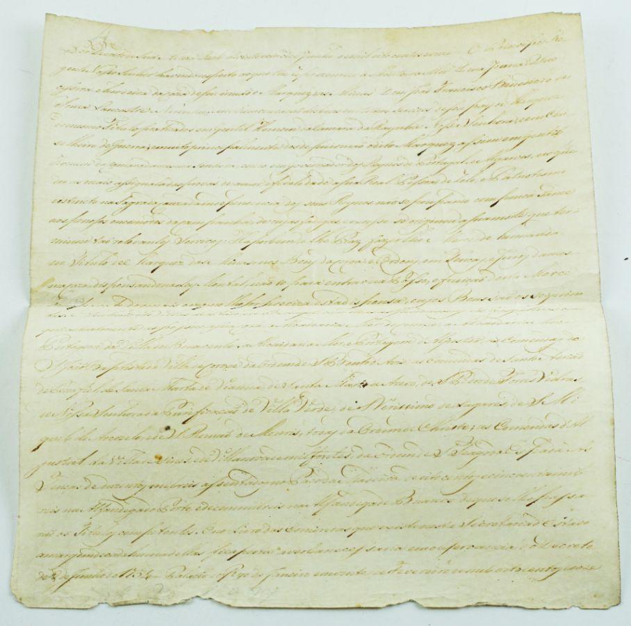 Carta de mercê do título de Marquês de Minas