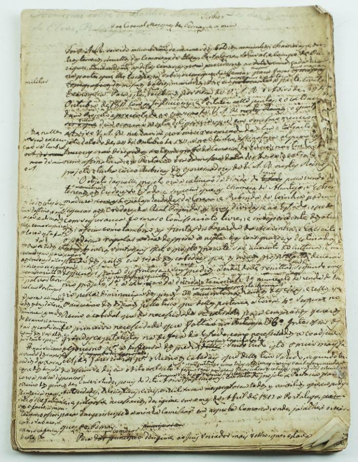 Manuscrito (Elvas, Portalegre, Setúbal, etc..)