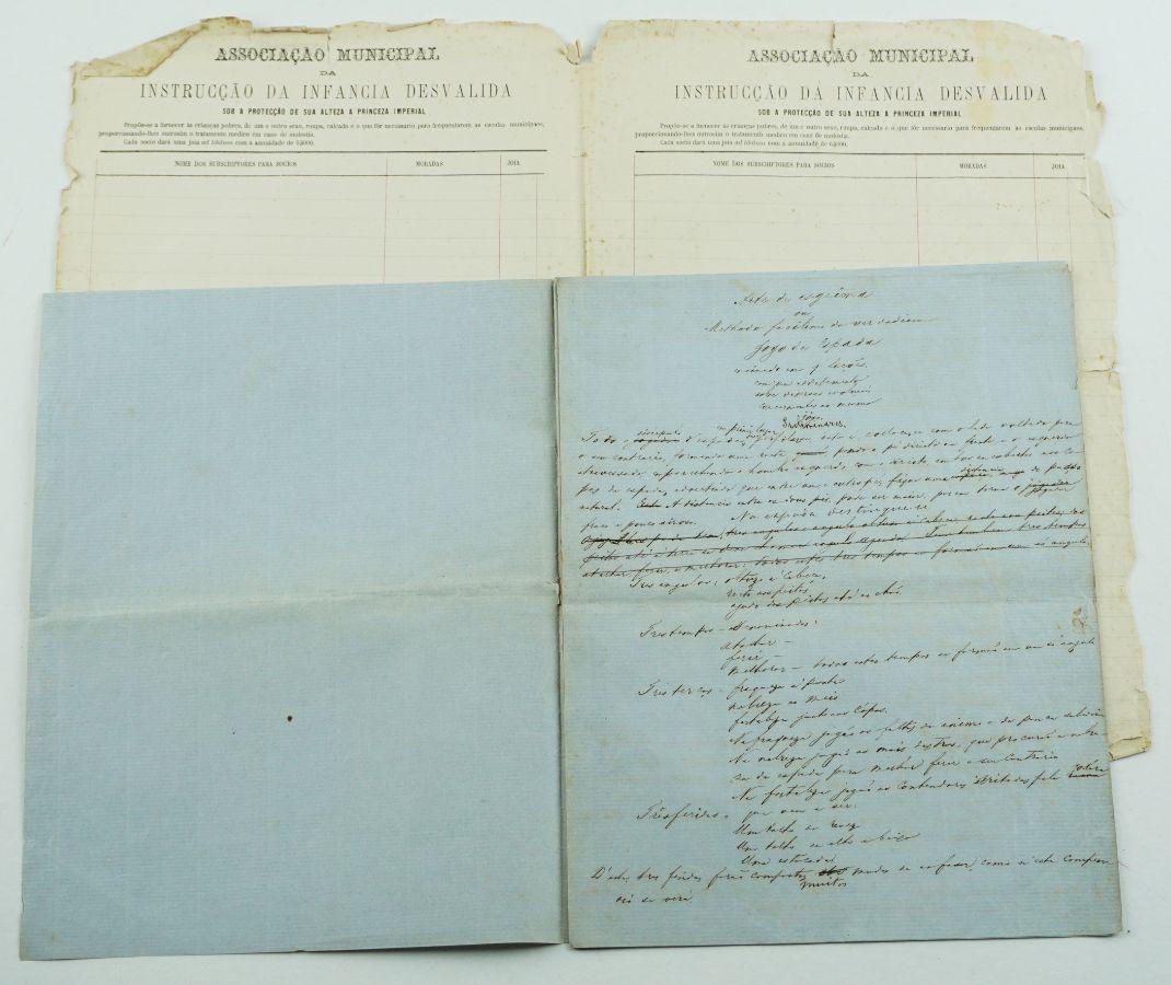 Arte de Esgrima - séc XIX - manuscrito de 8 folhas