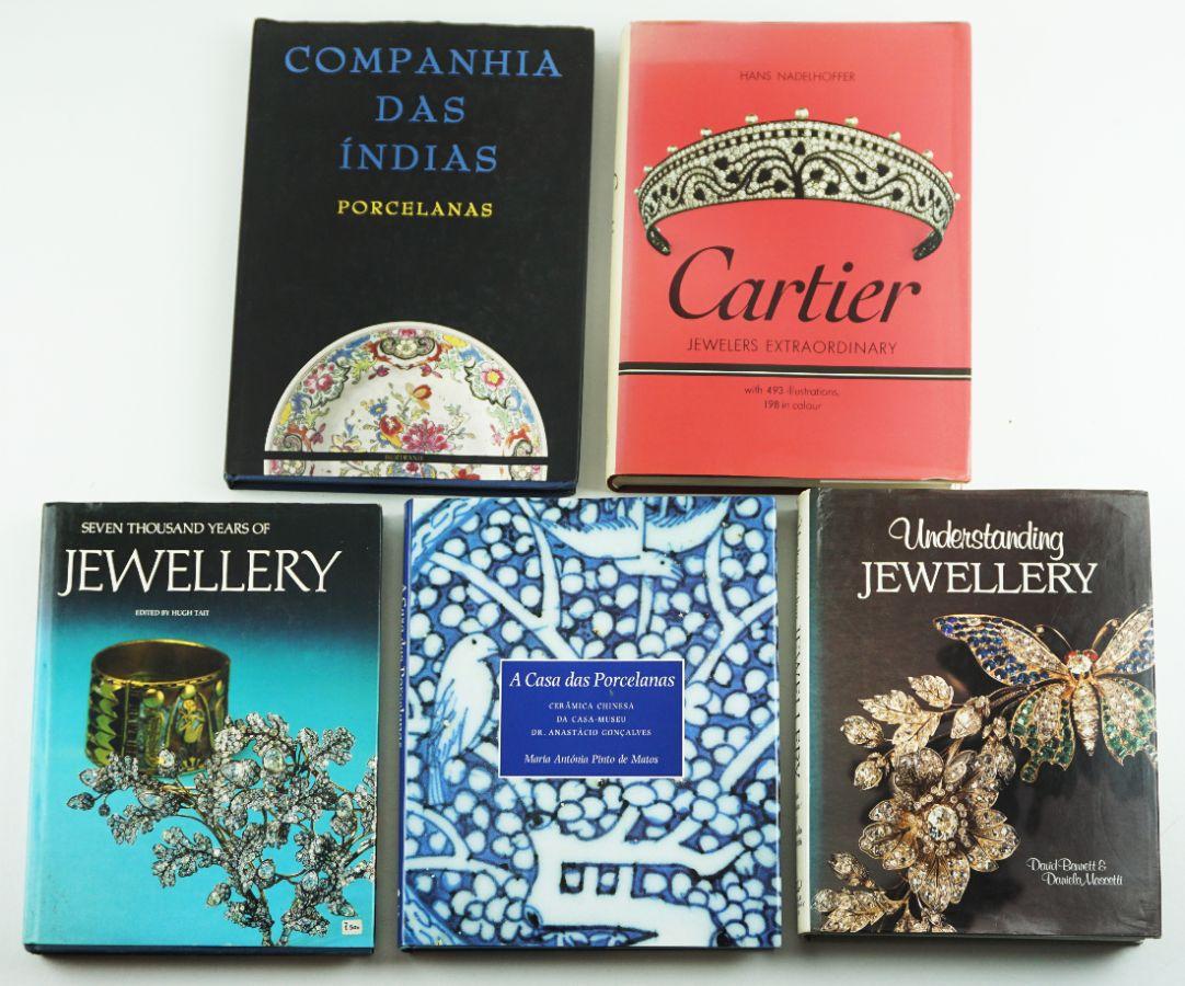 5 Livros de Joalharia / Porcelana