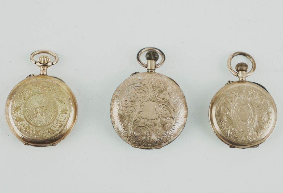 3 Relógios de lapela em Ouro