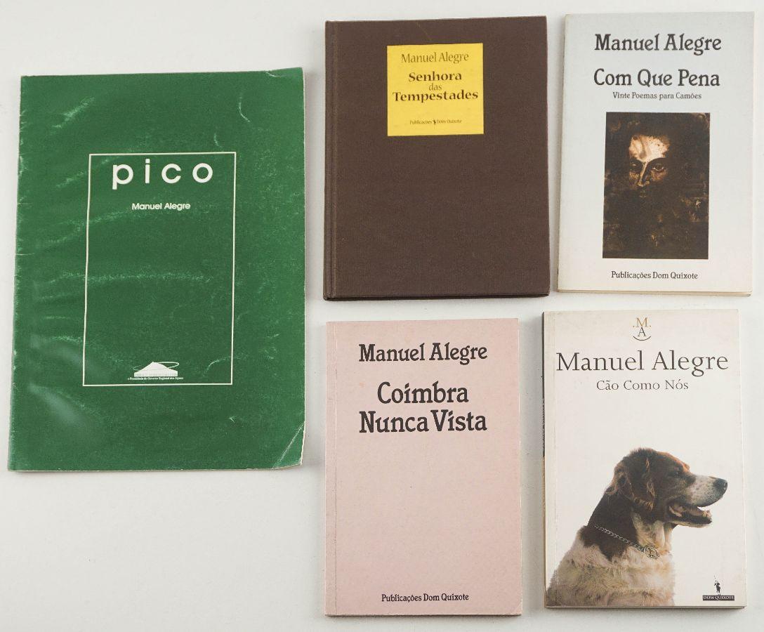Livros Manuel Alegre – com dedicatória