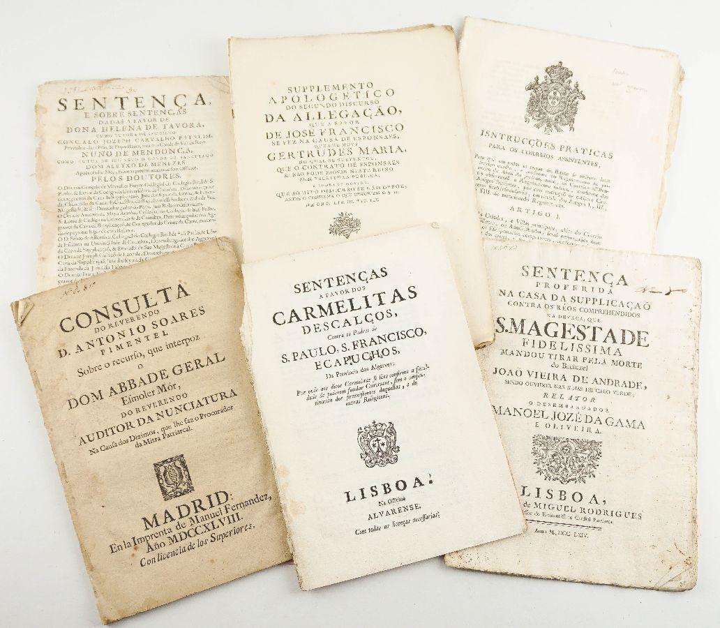 Publicações de Direito Portuguesas do sec XVII e XVIII