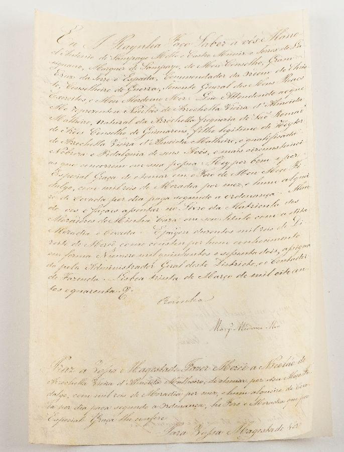 Manuscrito do Rainha D. Maria II (1840)
