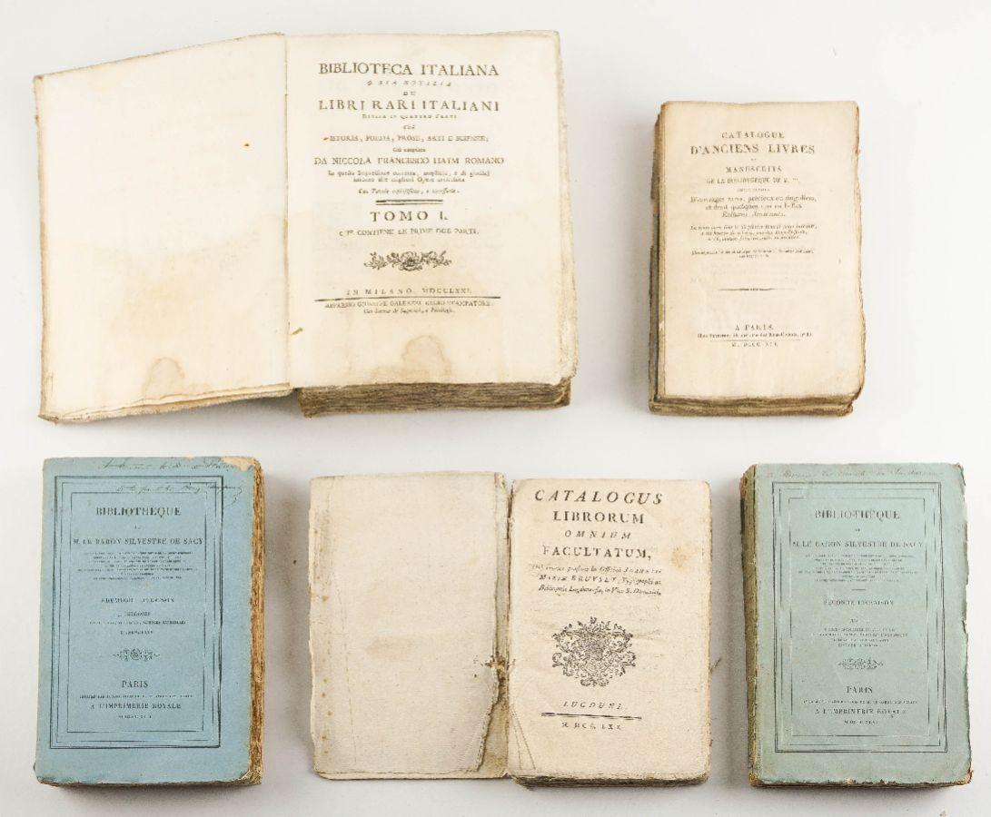 Livros do sec XVIII e XIX sobre bibliografia