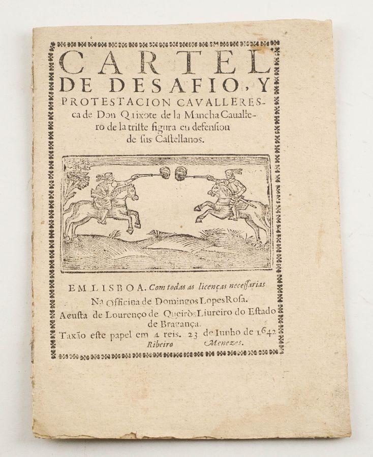 Raro exemplar de um folheto Cerventino – 1642