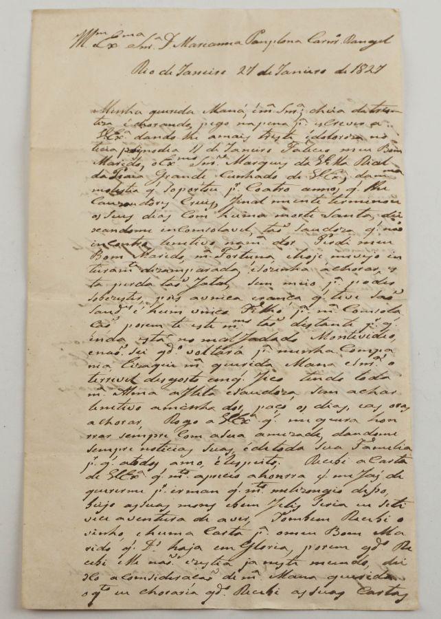 Brasil - Marqueza da S. Real da Praia Grande Brasil – 1827 – manuscrito