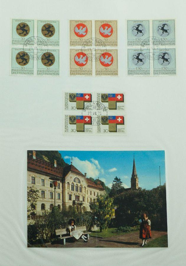 Filatelia e Pinturas Originais do Liechtenstein