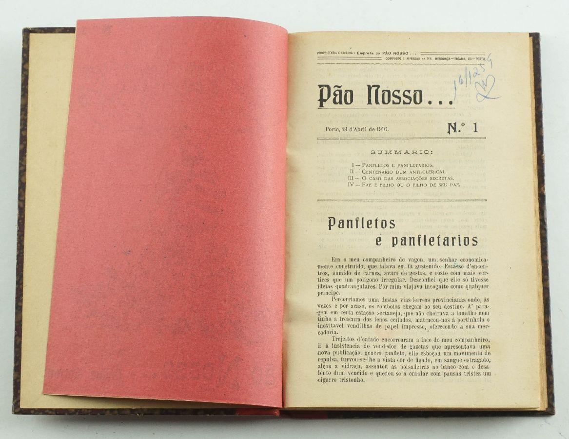 Pão Nosso periódico republicano e anticlerical (1910)