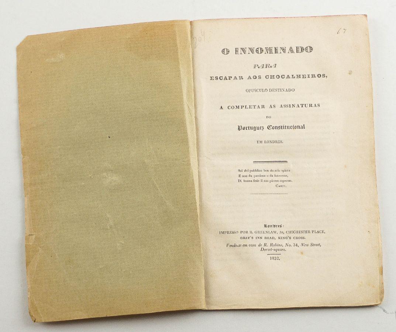 Para completar a colecção do Português Constitucional em Londres (1832)
