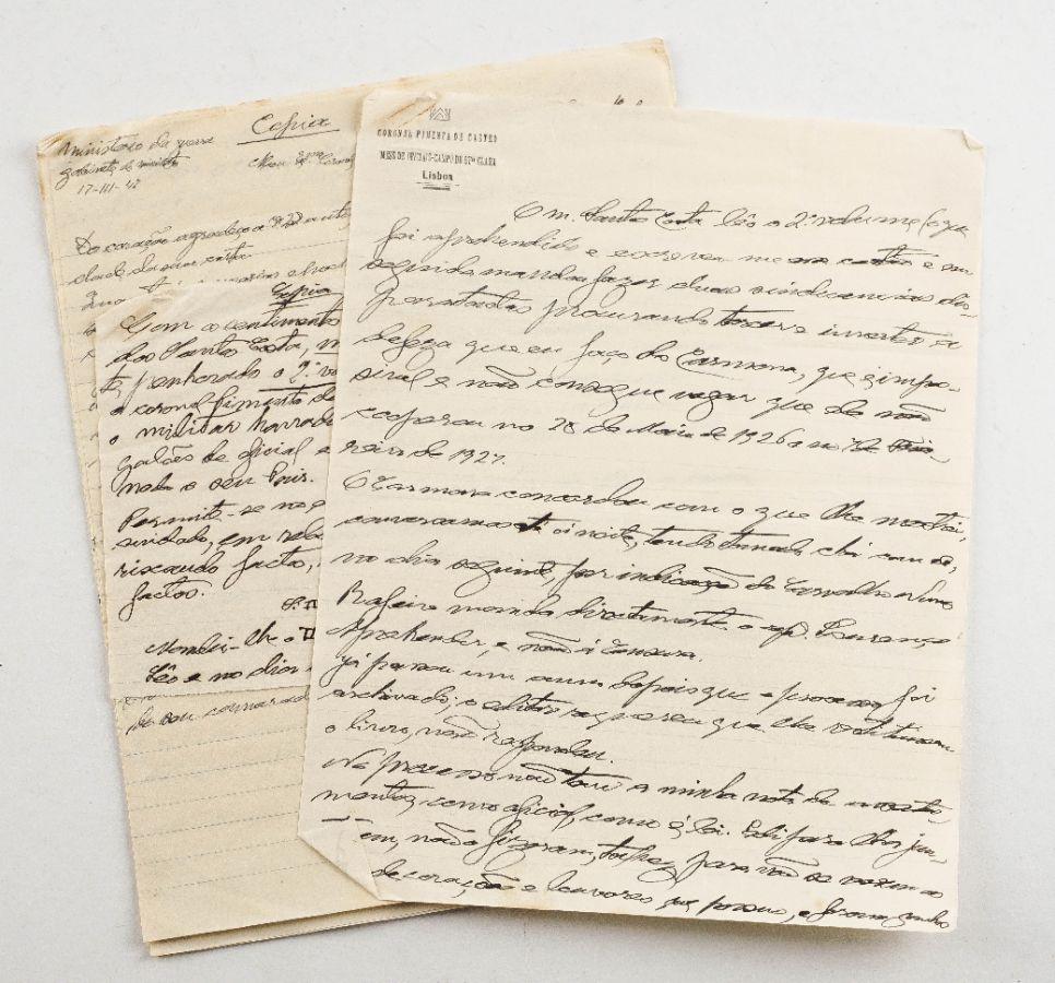 Manuscrito do coronel Gonçalo Pereira Pimenta de Castro