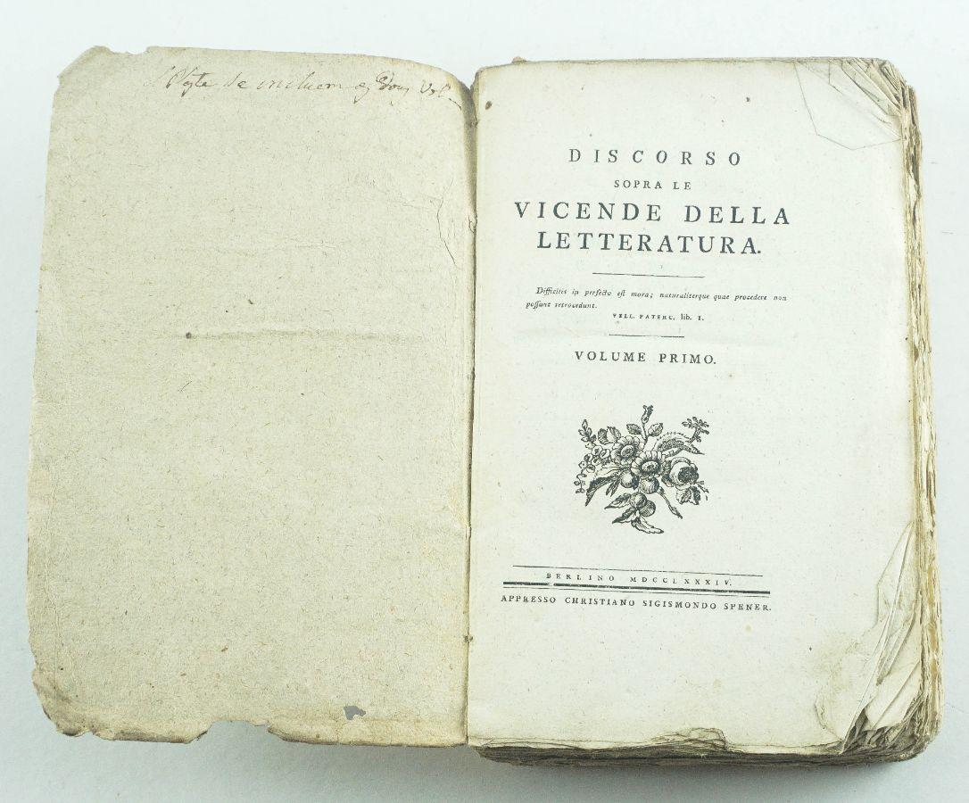 Discorso sopra le Vicende Della Letteratura - 1784