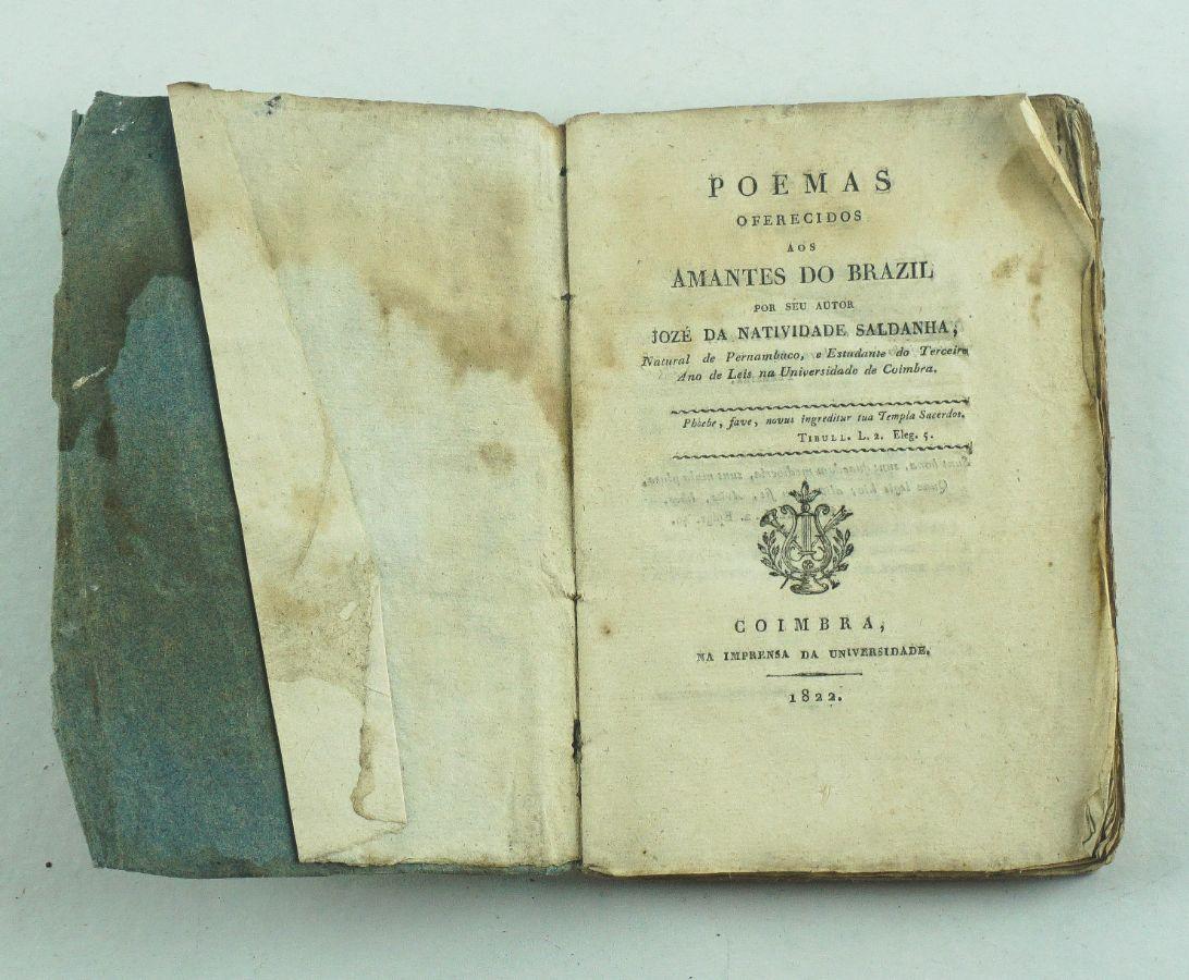 Rarissimo livro de Poesia Brasileira sec XIX