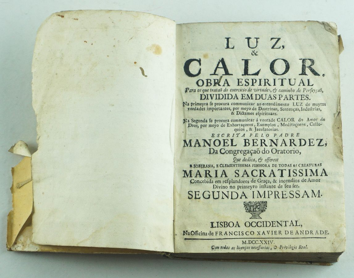 Luz & Calor Obra Espiritual – Padre Manoel Bernardes