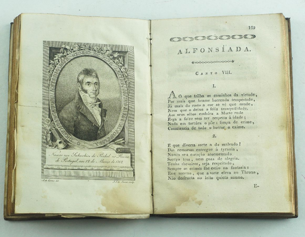 Alfonsiada Poema Heroico – 1818 – Impresso na Bahia