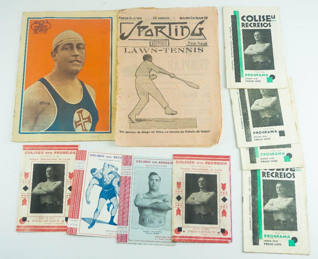 Programas de Luctas e publicações desportivas dos anos 20/30
