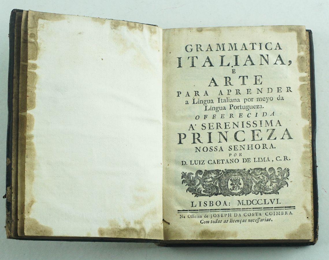 Grammatica Italiana e arte para Apreender (…) 1756