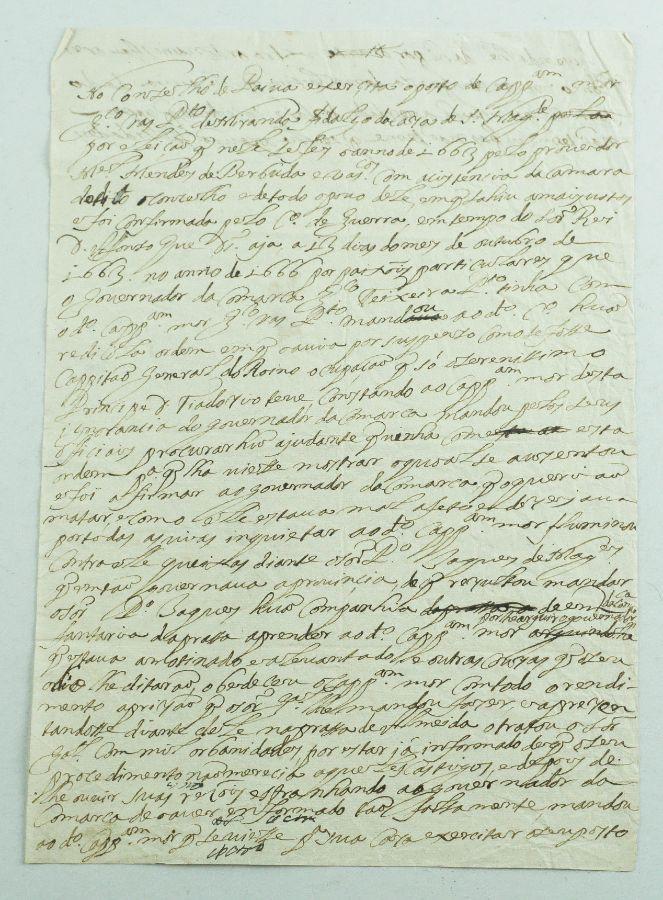Manuscrito militar português de 1663