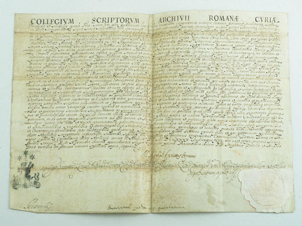 Manuscrito Apostólico do Papa Alexandre VIII – 1690